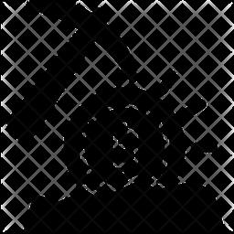 Bitcoin Mining Glyph Icon