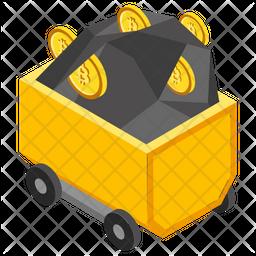 Bitcoin Mining Trolley Icon