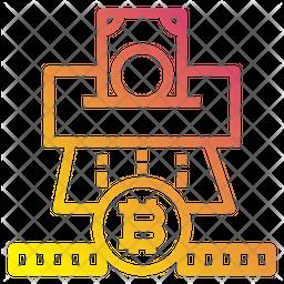 Bitcoin Money Gradient Icon