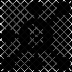 Bitcoin Network Glyph Icon