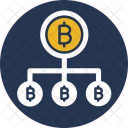 Bitcoin network Flat Icon