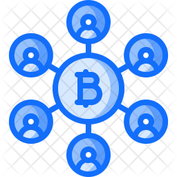 Bitcoin Network Icon Of Colored Outline Style Available In Svg Png Eps Ai Icon Fonts