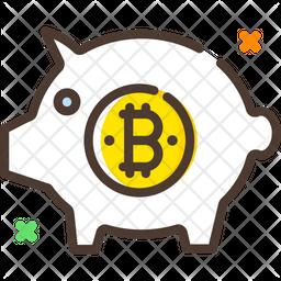 Bitcoin Piggy Bank Icon