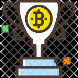 Bitcoin Reward Trophy Icon