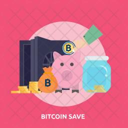 Bitcoin Save Icon