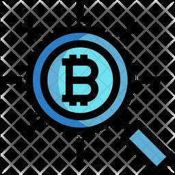 Bitcoin Search Icon