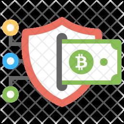 Bitcoin Secure Transaction Icon