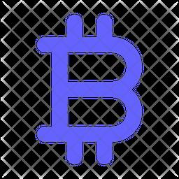 Bitcoin-sign Flat Icon