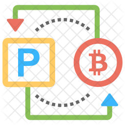 Bitcoin to Paypal Icon