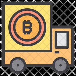 Bitcoin Truck Icon
