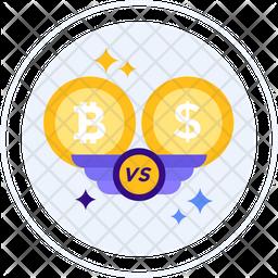 Bitcoin vs dollar Icon