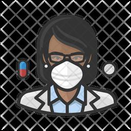Black Female Pharmacist Icon