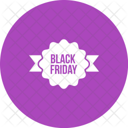 Black Friday Ribbon Icon Of Glyph Style Available In Svg Png Eps Ai Icon Fonts