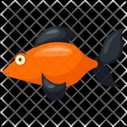 Black Smudge Goldfish Icon