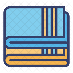 Blanket Colored Outline Icon