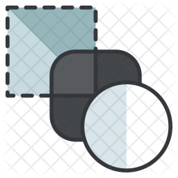 Blend Colored Outline Icon