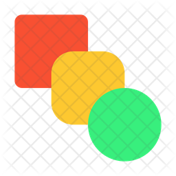 Blend Shapes Flat Icon