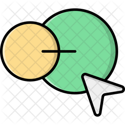 Blend Tool Colored Outline Icon