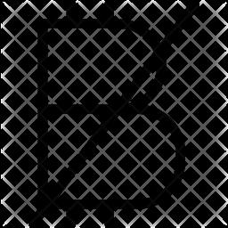 Block Bitcoin Glyph Icon