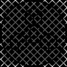 Block chain network Icon
