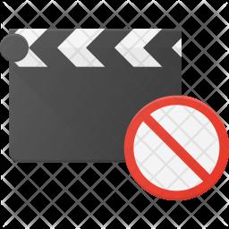 Block Clapper Flat Icon
