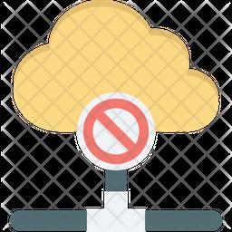 Block cloud data Icon