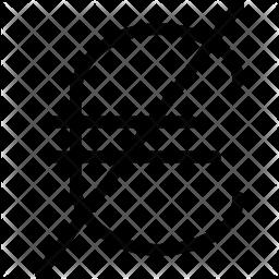 Block Euro Glyph Icon
