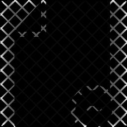 Block File Glyph Icon