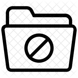 Block folder Line Icon
