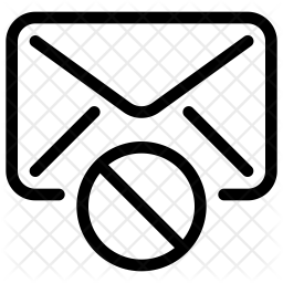 Block mail Icon