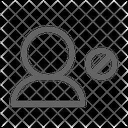 Block user Line Icon