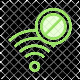 Block Wifi Colored Outline Icon