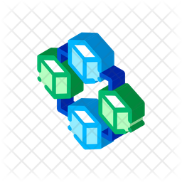 Blockchain Icon Of Isometric Style Available In Svg Png Eps Ai Icon Fonts