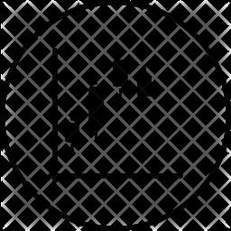 Blockchain graph Icon