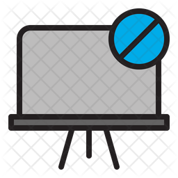 Blocked Clipboard Icon