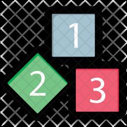 Blocks Colored Outline Icon