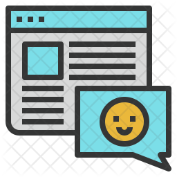Blog Colored Outline Icon