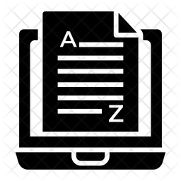 Blog Publication Glyph Icon