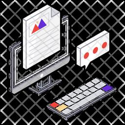 Blogging Isometric  Logo Icon