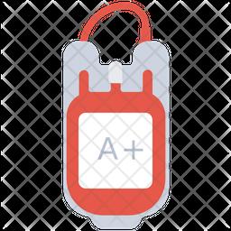 Blood Bag Flat Icon