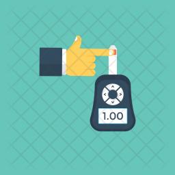 Blood Glucose Monitoring Icon