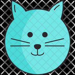Blue Cat Icon