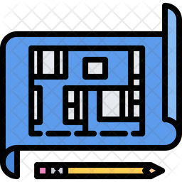 Blueprint Icon Of Colored Outline Style Available In Svg Png Eps Ai Icon Fonts