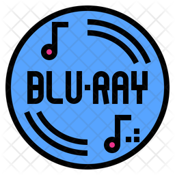 Blueray Icon Of Colored Outline Style Available In Svg Png Eps Ai Icon Fonts
