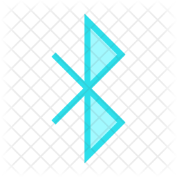Bluetooth Colored Outline Icon