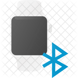 Bluetooth in Watch Flat Icon