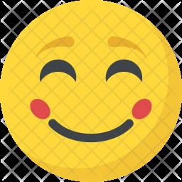 Blushing Face Flat Icon