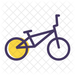 Bmx Colored Outline Icon