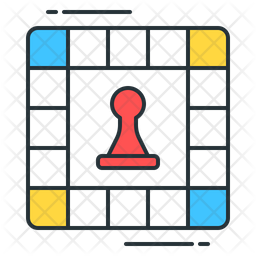 Board Games Colored Outline Icon