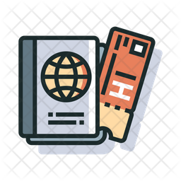 Boarding Colored Outline Icon